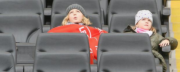Unsicheres Stadionerlebnis. Foto: Stefan Krieger.