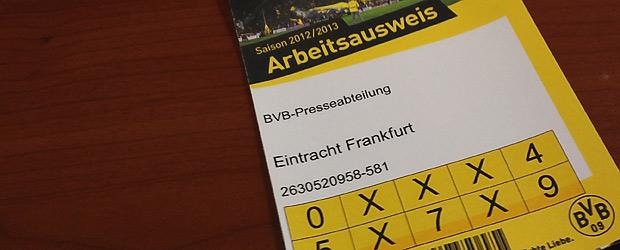 Arbeitsausweis BVB, geknipst mit dem Wischtelefon.