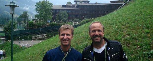 JCM und René Kübler (re.)