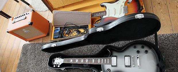 Symbolbild. Gitarren, unne. Foto: Stefan Krieger.