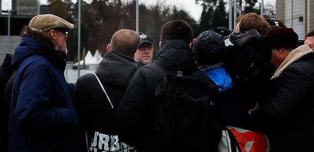 Herr Schaaf hält Hof. Foto: Stefan Krieger.