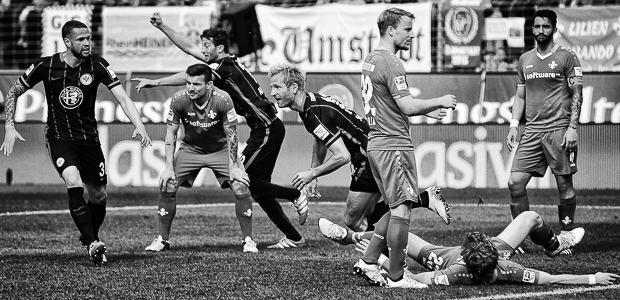 Aigner trifft zum 2:1. Foto: Stefan Krieger.