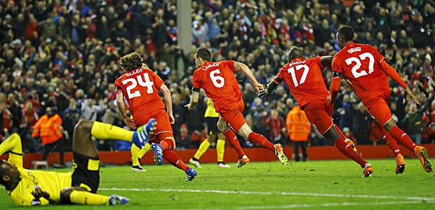 Das also ist Anfield. Foto: Reuters.