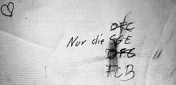 Graffito im FR-Aufzug. Foto: Stefan Krieger.
