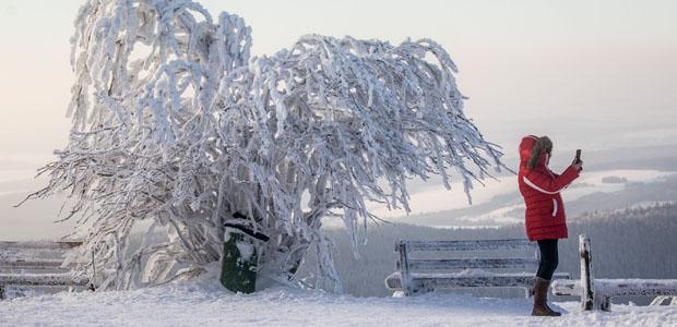 Winter in Hessen. Foto: dpa.
