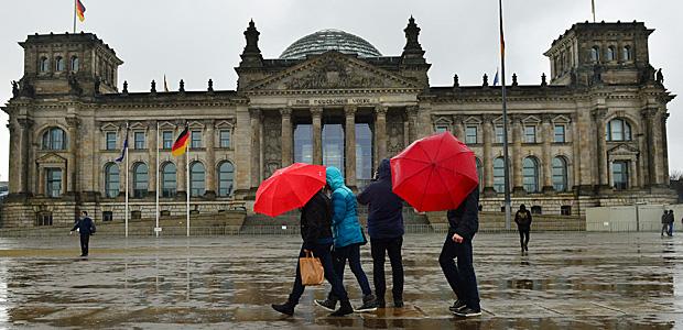 Regenwetter in Berlin. Foto: dpa.