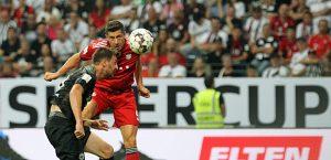 Lewandowski macht eines seiner siebzehn Tore. Foto: skr.
