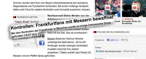 Screenshots Presseberichte