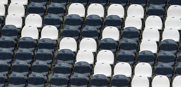 Die Ränge sind leer. Foto: Stefan Krieger.