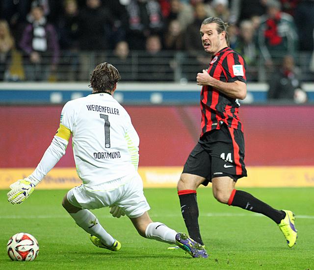 1:0, Alex Meier (FG). Foto: Stefan Krieger.