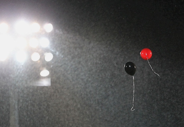 Ballons in den Vereinsfarben. Foto: Stefan Krieger.
