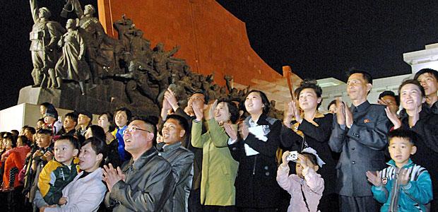 Auch in Nordkorea ist man schon ganz hibbelisch. Foto: AFP.