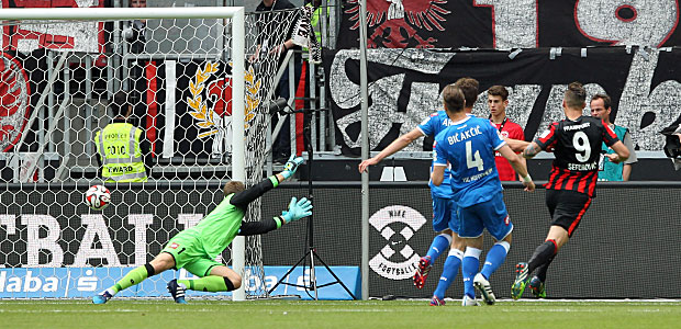 Haris Seferovic erzielt das 2:0. Foto: Stefan Krieger.