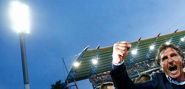 Der Retter. Foto: Reuters.