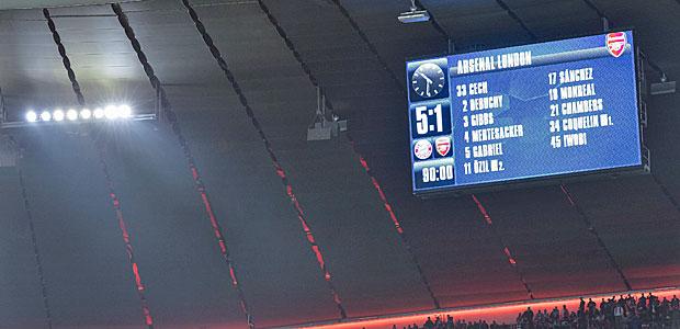 Arsenal London ist ja sowas wie Hertha BSC Berlin. Foto: AFP.