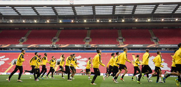 This also ist Anfield. Foto: dpa.
