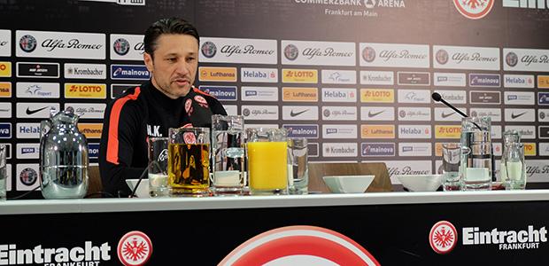 Niko Kovac auf der gestrigen PK zum Spiel. Foto: Stefan Krieger.