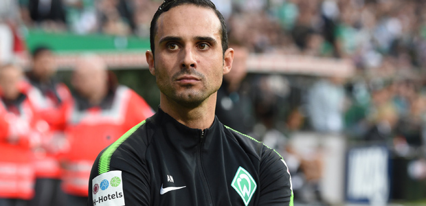 Alexander Nouri - ehemaliger Trainer von Werder. Foto: dpa.